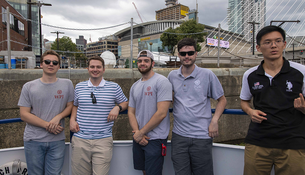 Picture of Thomas and fellow classmates in Boston