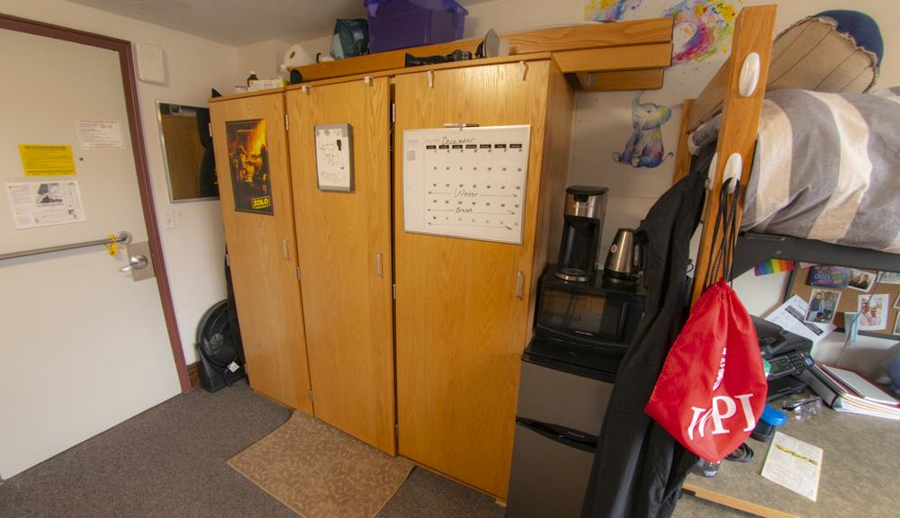 Closet setup for Morgan Hall