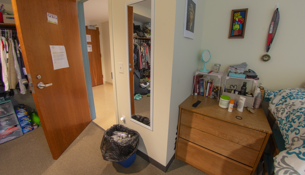 East hall apartment style 2, bedroom entryway