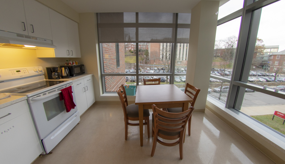 East hall apartment style 2, dining table