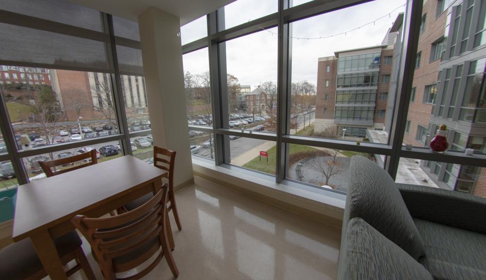 East hall apartment style 2, dining room windows