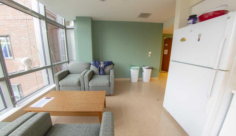 East hall apartment style 2, living room hall