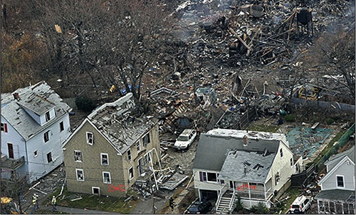 Explosion in Danvers, MA in 2006 that devastated an entire neighborhood