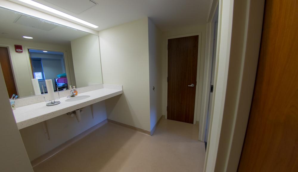 East Hall apartment style 1, bathroom counter