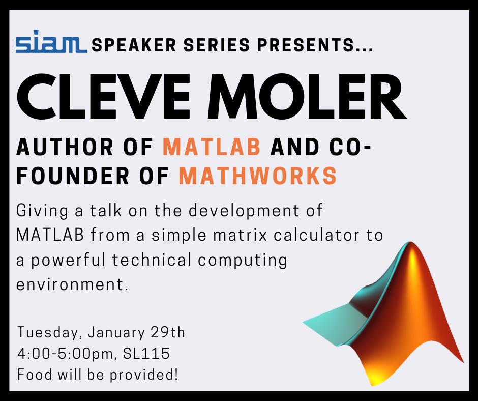 Cleve Moler SIAM Speaker Series