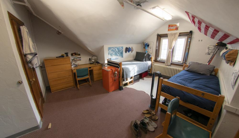 Corner angle view of room.