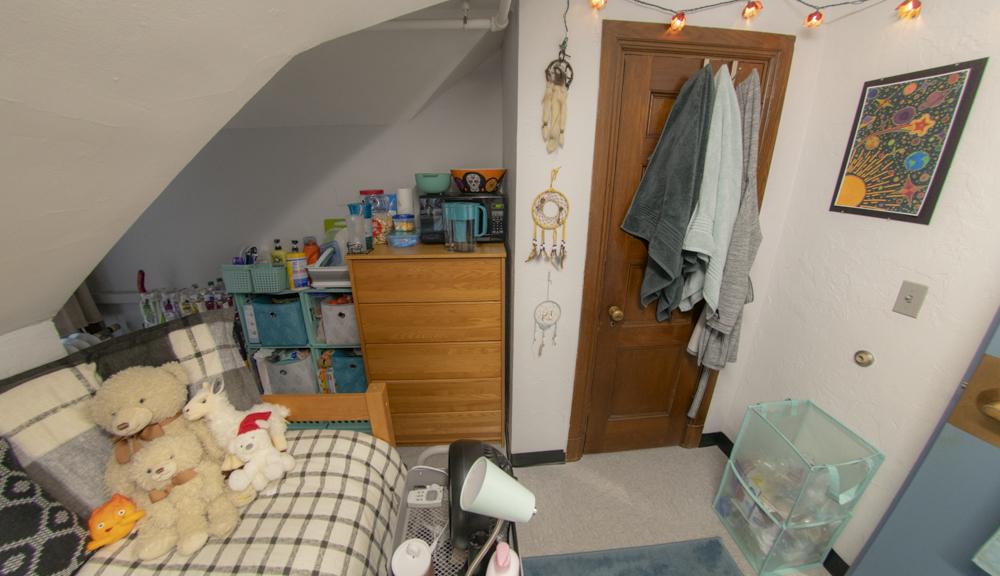 Dresser and closet view.