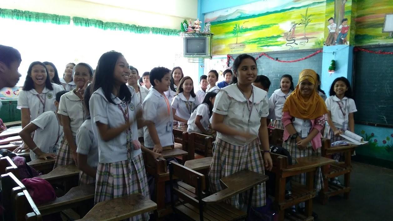 international classroom of students