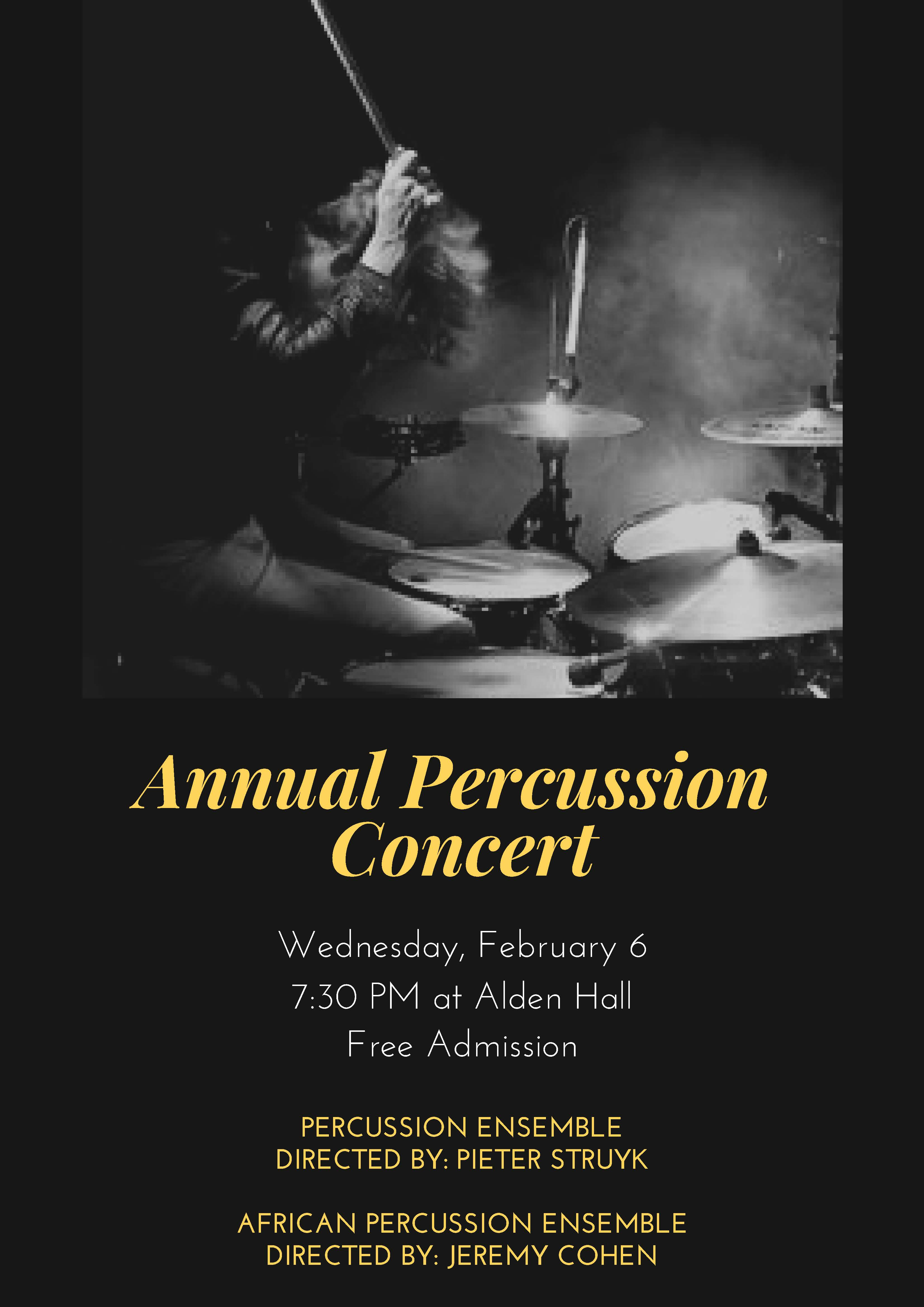 Percussion Ensemble and African Percussion Ensemble