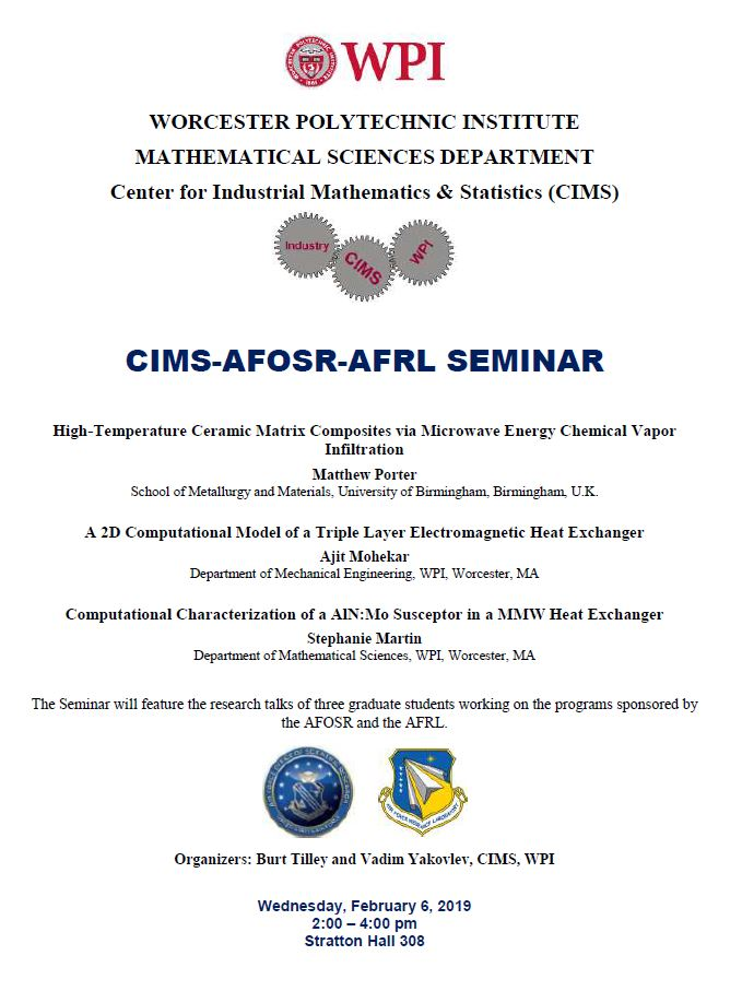 CIMS-AFOSR-AFRL Seminar