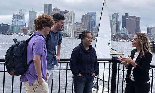 WPI students in Boston