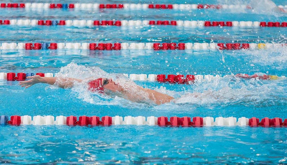 WPI swimmer