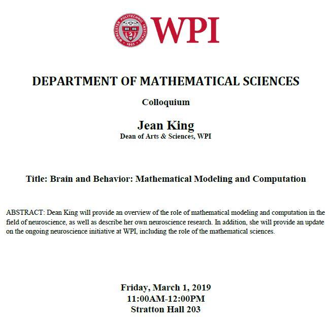 Dean Jean King Colloquium