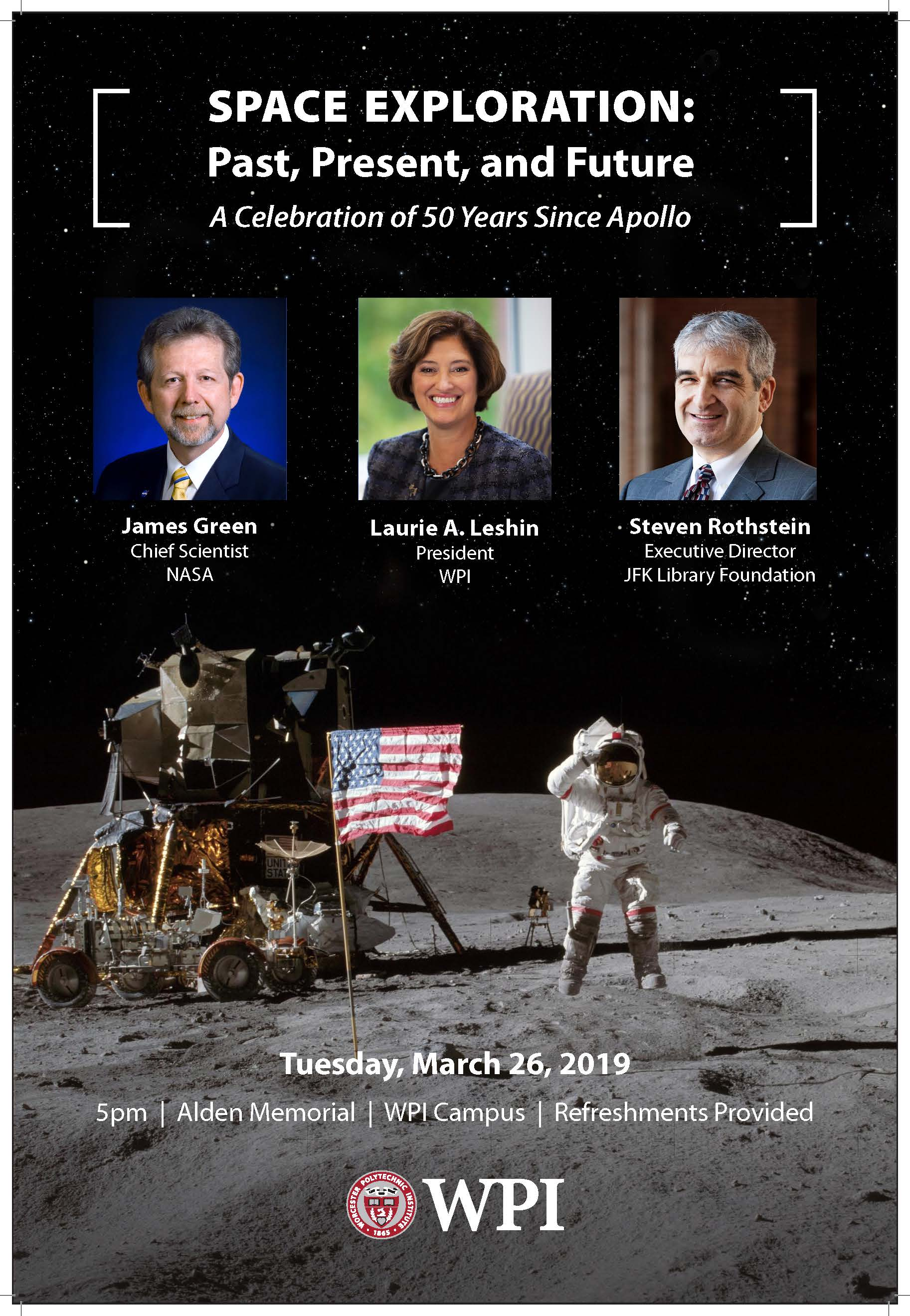 WPI Space Exploration Event 50 Years Since Apollo