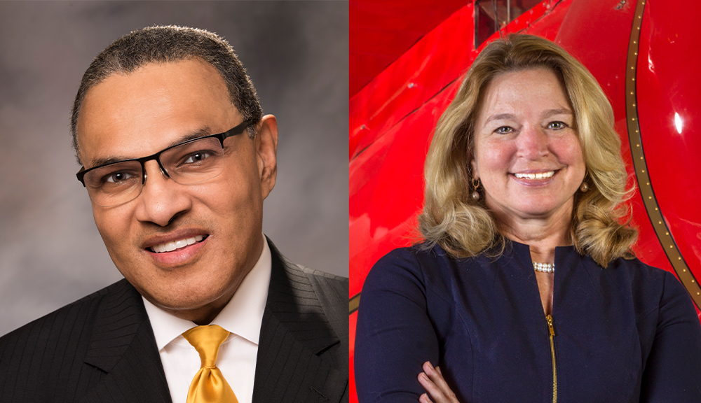 Freeman Hrabowski III, left, president of the University of Maryland, Baltimore County, is the speaker for WPI's 2019 graduate Commencement; Ellen Stofan, director of the National Air and Space Museum, will speak at the undergraduate ceremony