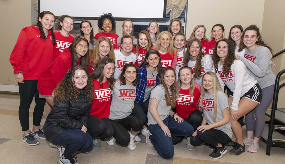 Kristine Lilly at WPI