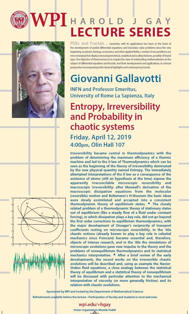 Harold J. Gay Lecture Giovanni Gallavotti