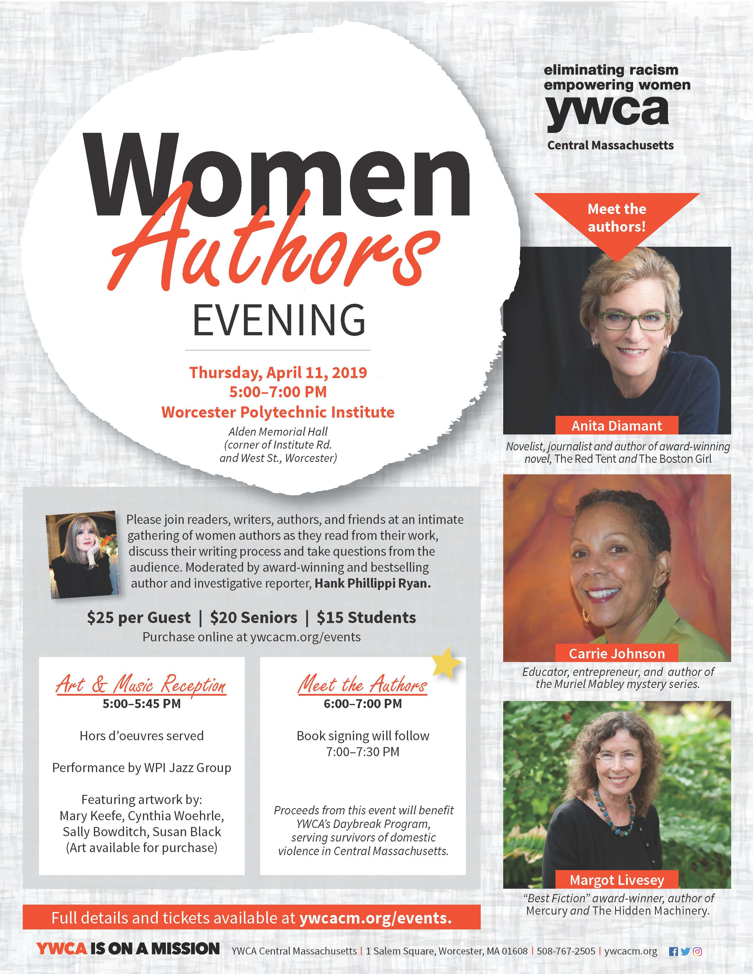 Moderated by award-winning and bestselling author and investigative reporter, Hank Phillippi Ryan