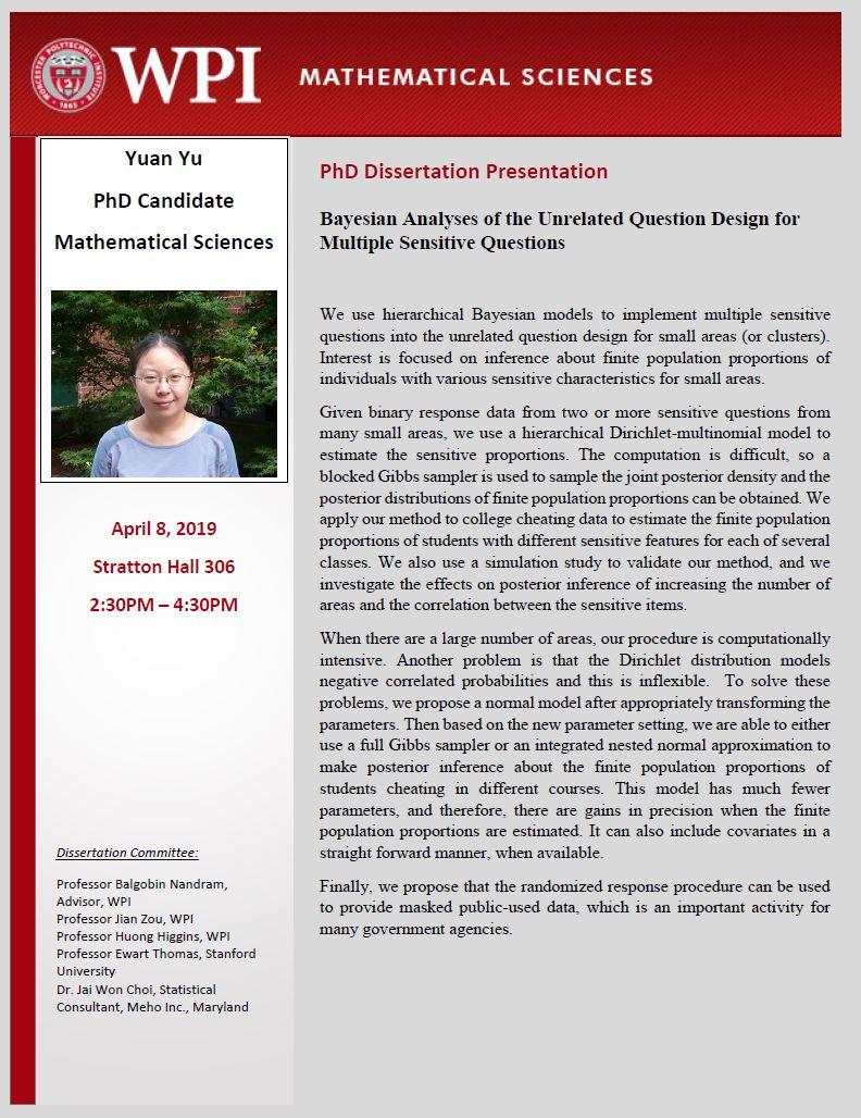 Yuan Yu PhD Dissertation Presentation