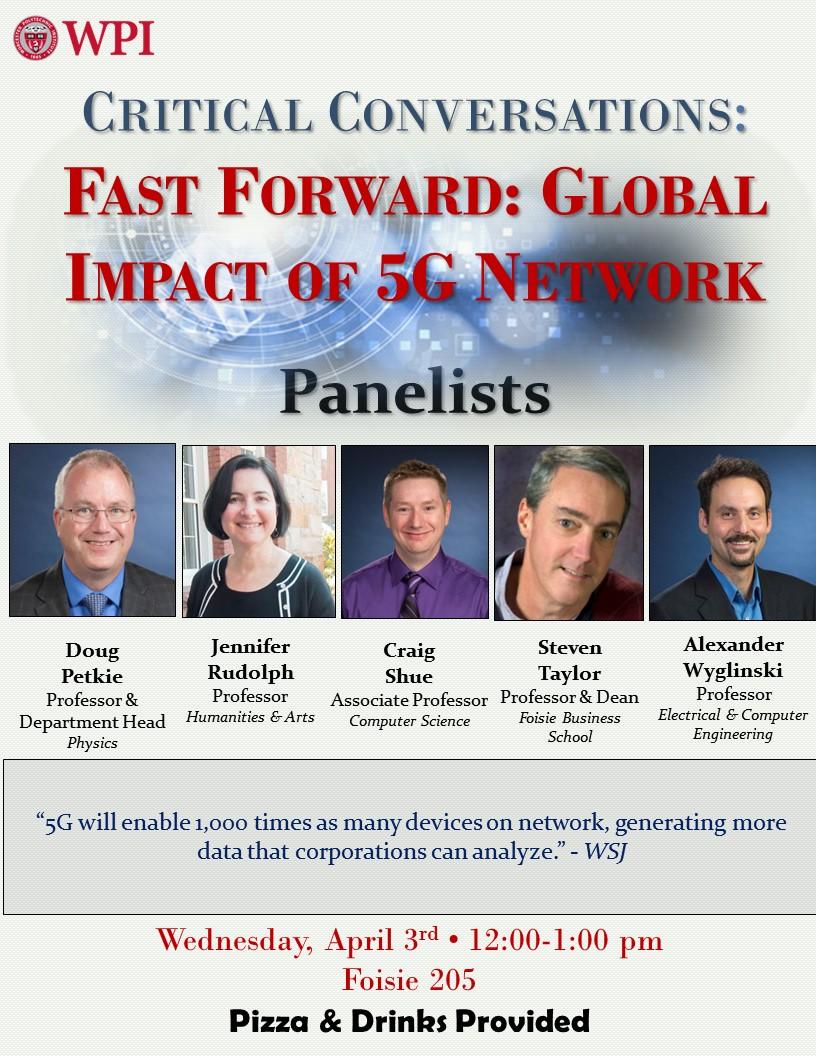 Event flyer for 5G Critical Conversations Forum