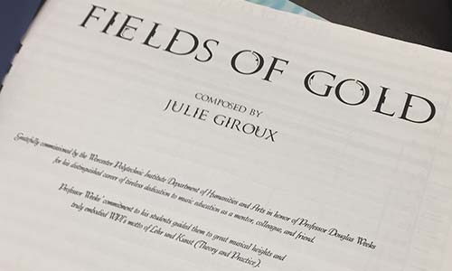 "The cover of ""Fields of Gold,"" the piece commissioned for Doug Weeks."