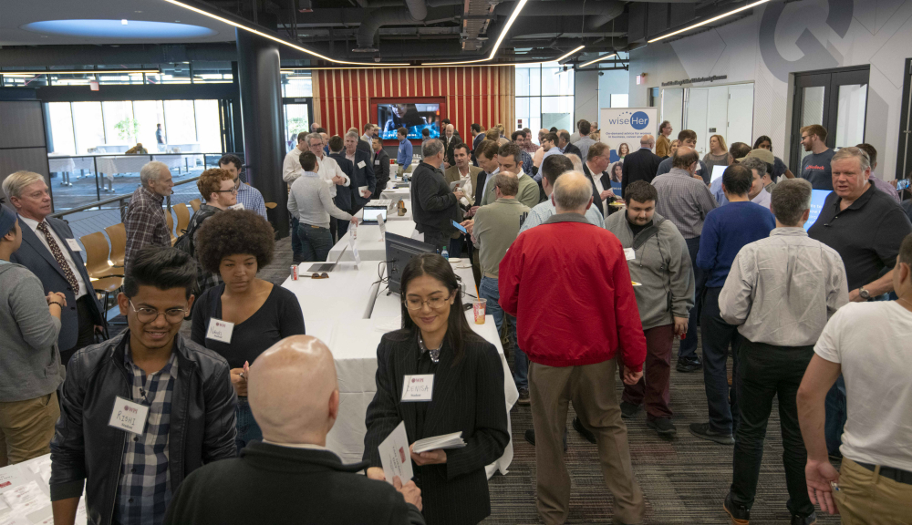 TAN Demo Day was well attended by the WPI community. The university's vibrant entrepreneurial culture was apparent as the questions and conversations gave attendees a chance to learn about everything from deep learning to the Internet of things to renting