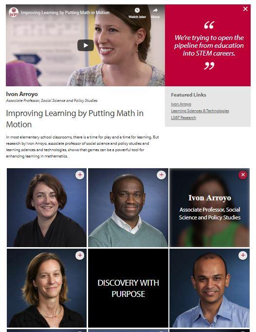 Graduate Research Profiles Screenshot