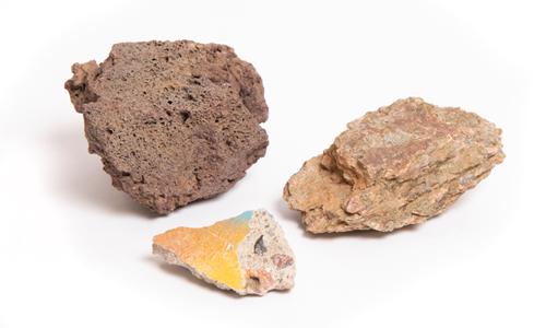 3 Rocks in a circular formation.