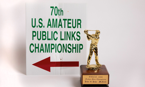 Golf Tournament award.