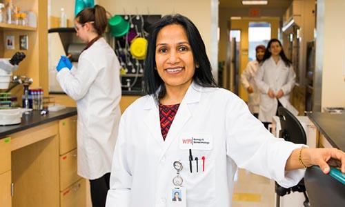 Reeta Rao in the lab