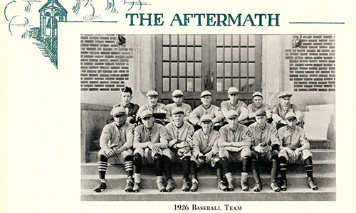 Archives Yearbook Picture of Baseball team