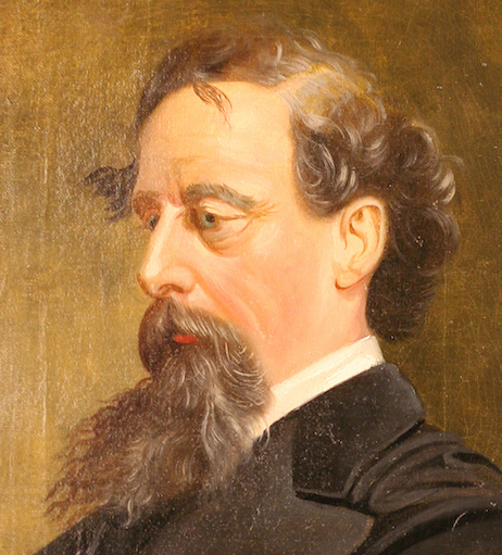 portrait of Charles Dickens in Gordon Library's collection