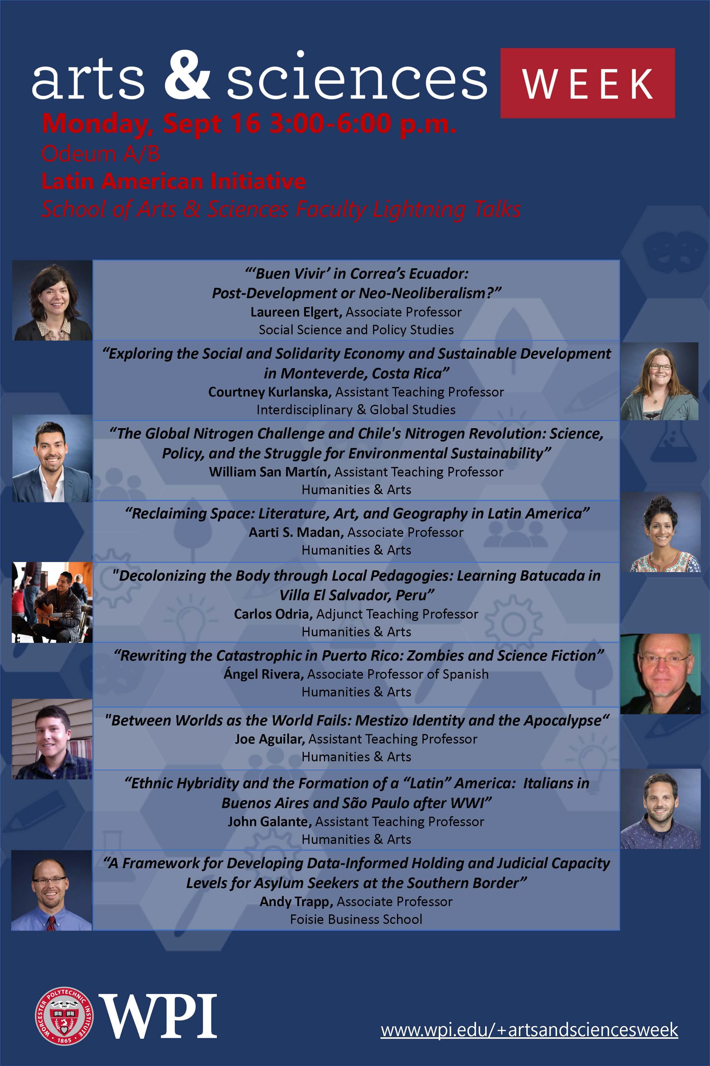 Latin American faculty lightning talks