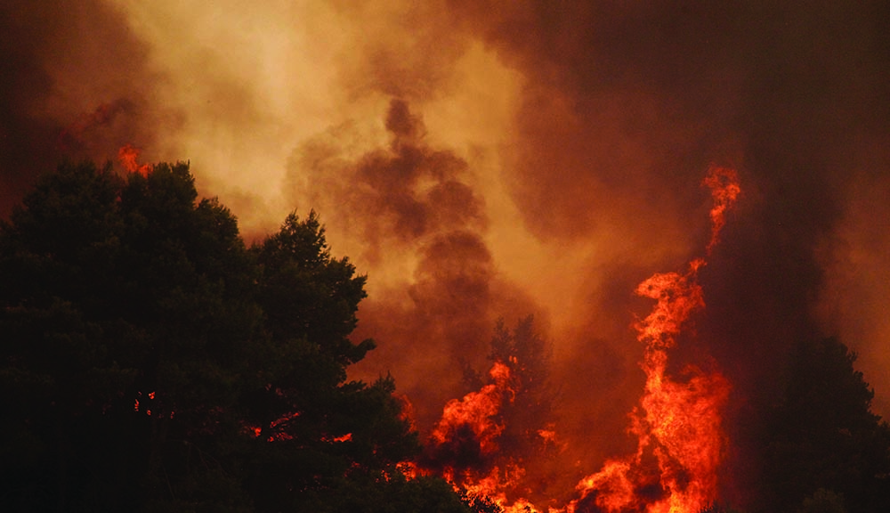 Wildfire climate change WPI research