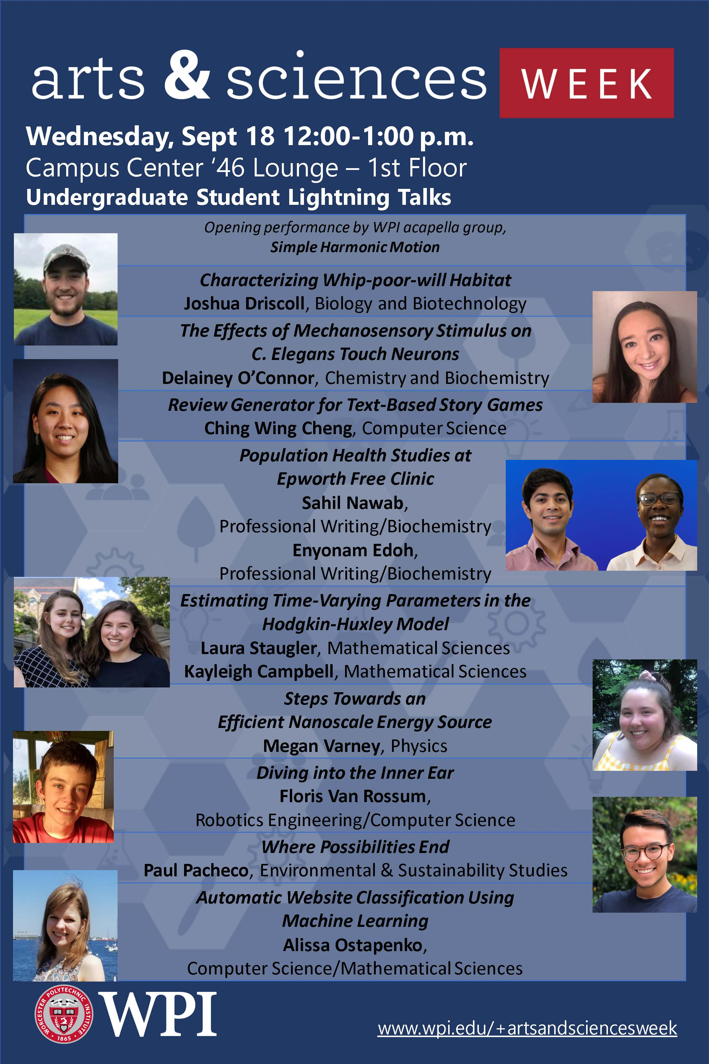 Undergraduate lightning talks