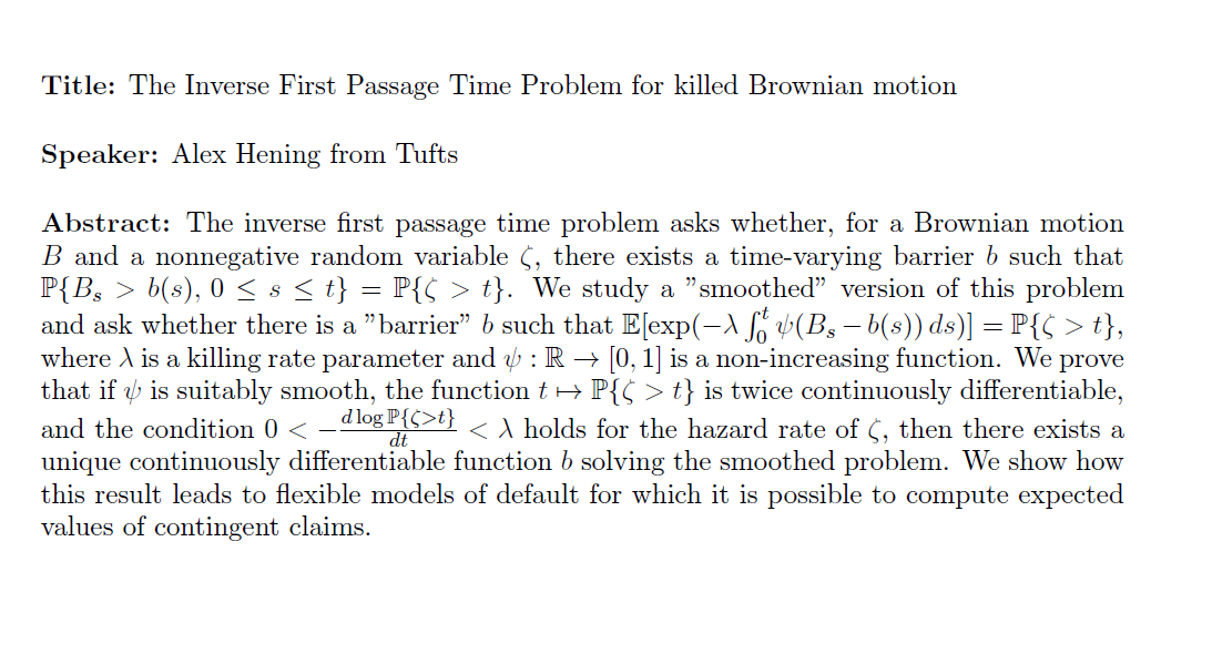 The Inverse First Passage Time Problem for killed Brownian motion
