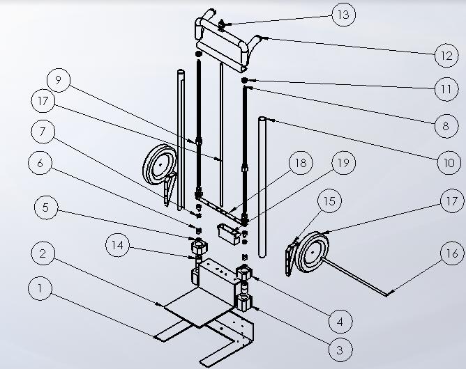 Engineer Diagram of Hand Truck