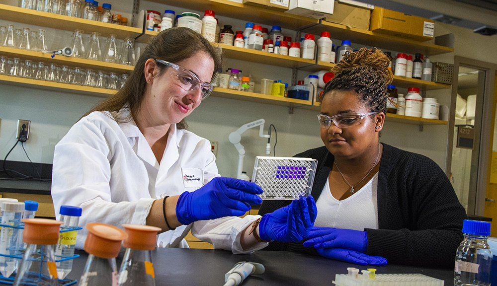 Lab work is essential, but faculty want students to succeed in all aspects of their careers so professional development opportunities are offered and encouraged.