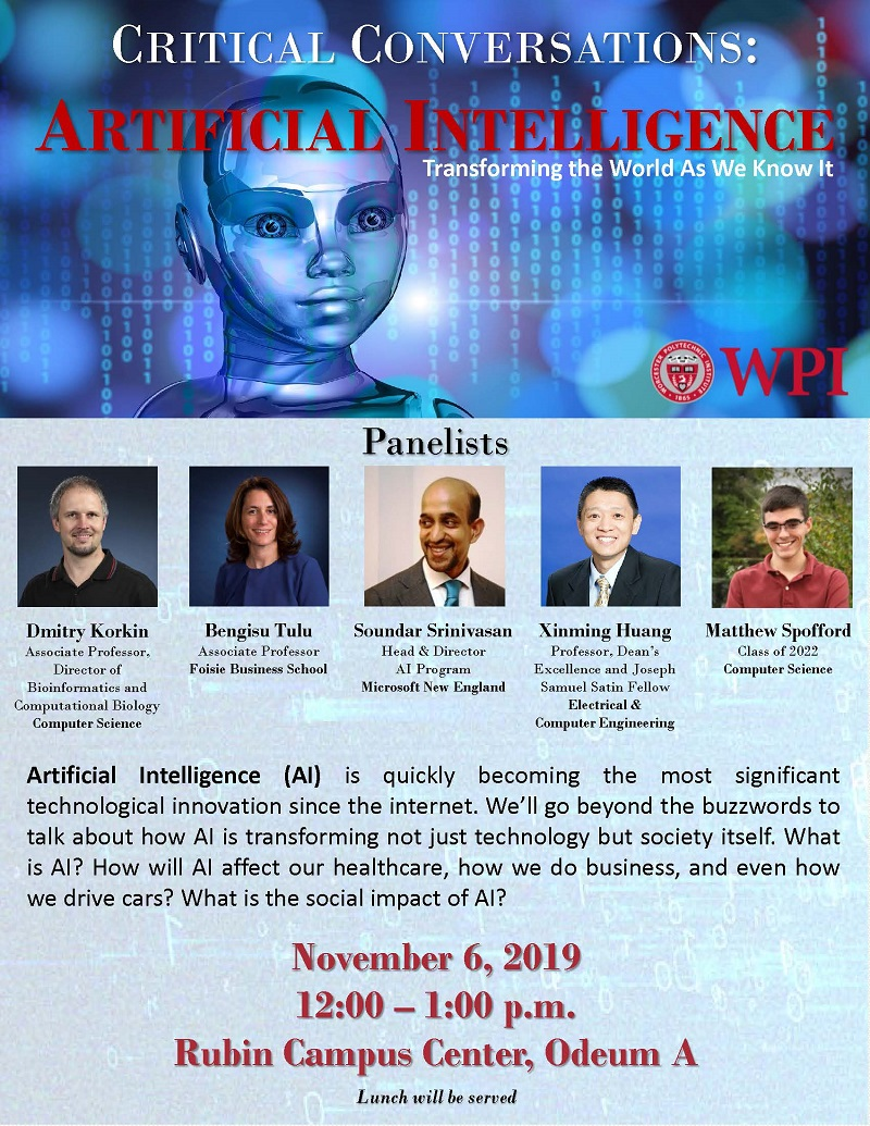 Critical Conversations forum on Artificial Intelligence