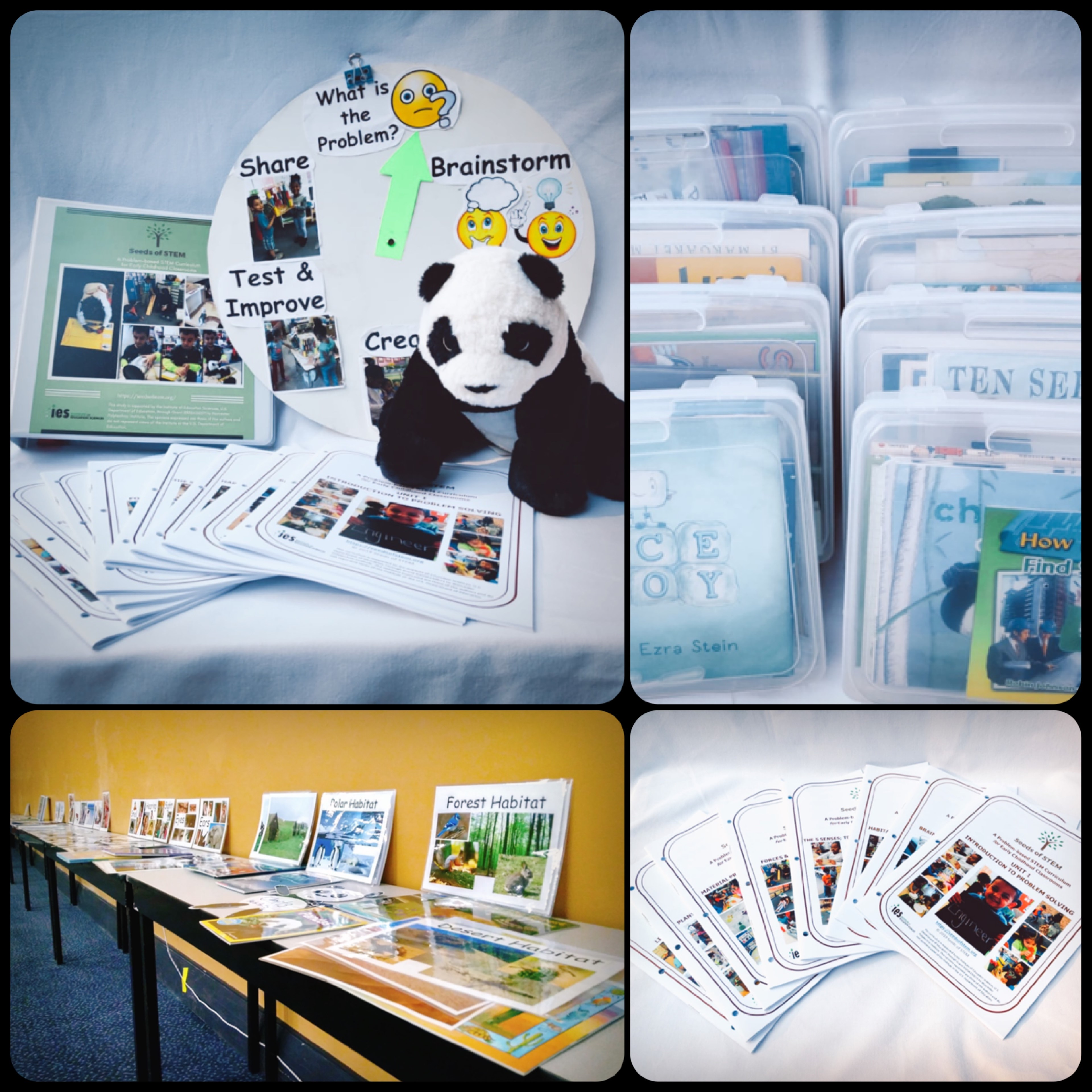 Seeds of STEM Curriculum includes booklets, images, Panda, and video library