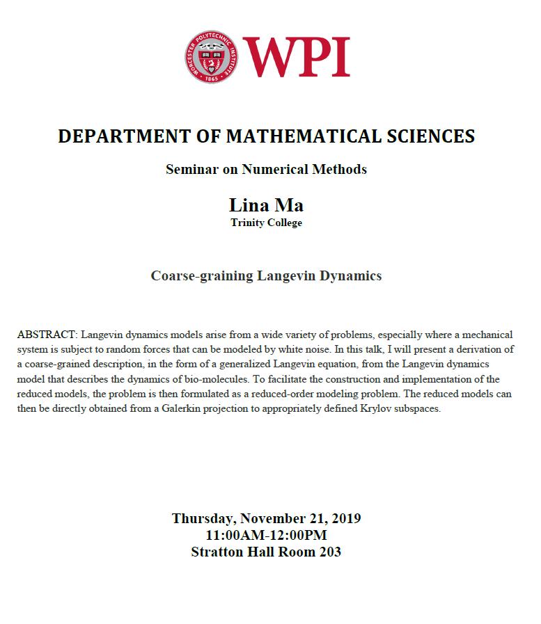 Lina Ma Numerical Methods