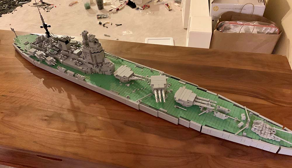 A LEGO version of the HMS Nelson.
