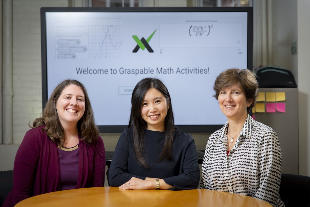 From left, Erin Ottmar, assistant professor of learning sciences and psychology; and Jenny Yun-Chen Chan and Katharine Sawrey, post-doctoral fellows in learning sciences and technology.