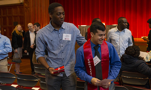 Students from OMA wearing Connections Stoles