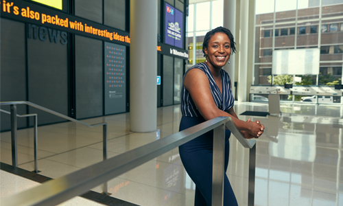 Ezeonyebuchi at NPR headquarters