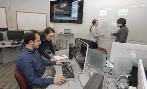 Graduate Business Analytics MS students working