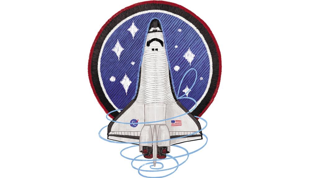 NASA Shuttle Badge