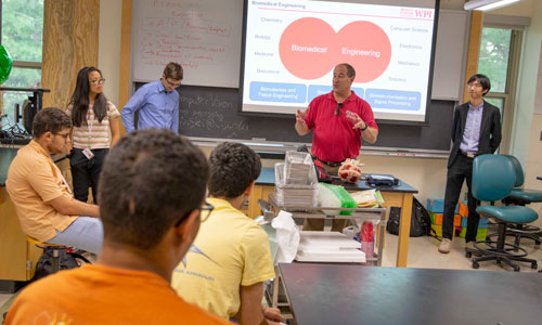Students watching presentation