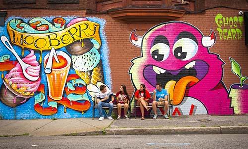 WPI students Worcester graffiti art