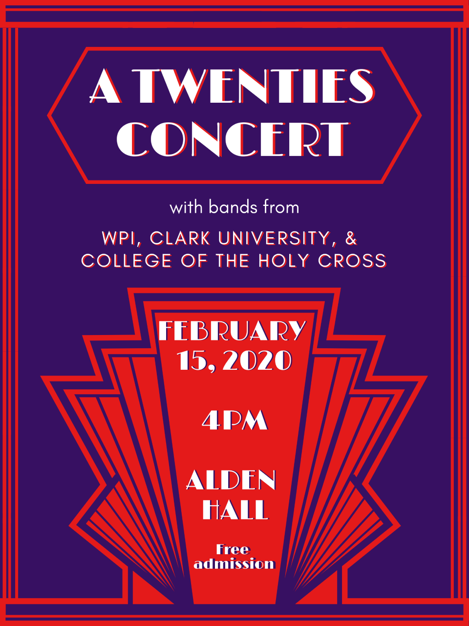 WPI Clark University College of the Holy Cross bands